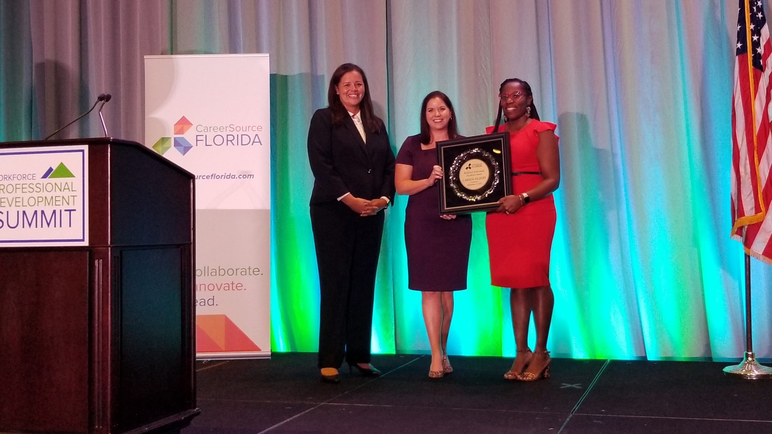 CareerSource Florida's Carmen Hilbert recognized with an award